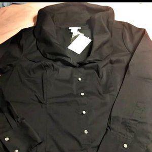 """Soft Surroundings """"Elizabeth"""" Size L black blouse"""
